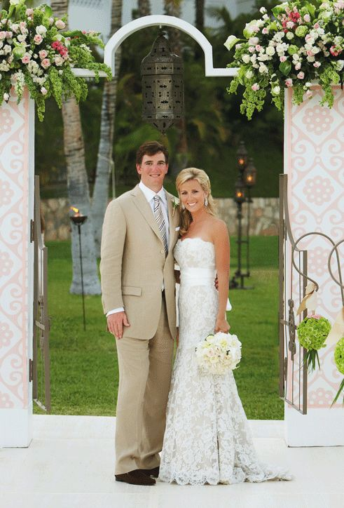 dce8aefdb Abby Mcgrew exchanged wedding vows with NFL star Eli Manning on 19 April  2008 at the One Only Palmilla resort in Cabo San Lucas