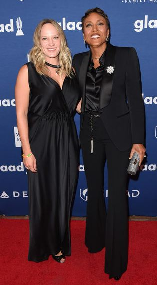 Amber Laign And Her Partner Robin Roberts At The 29th Annual Glaad Media Awards On 5 May 2018 In New York City Photo Zimbio